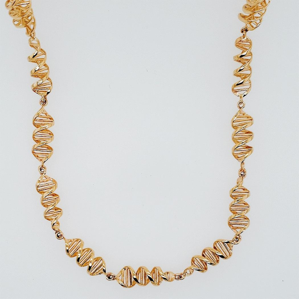 Double Helix DNA Spiral Necklace
