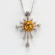3ct Golden Zircon Star Pendant