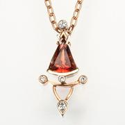 Sunstone Pendant cut by David Brackna