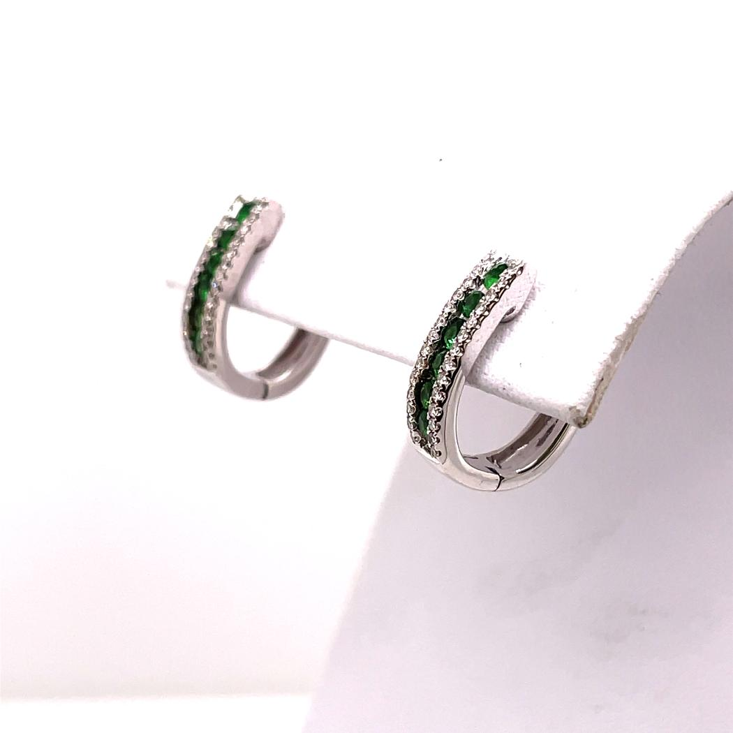 Channel Set Tsavorite Earrings
