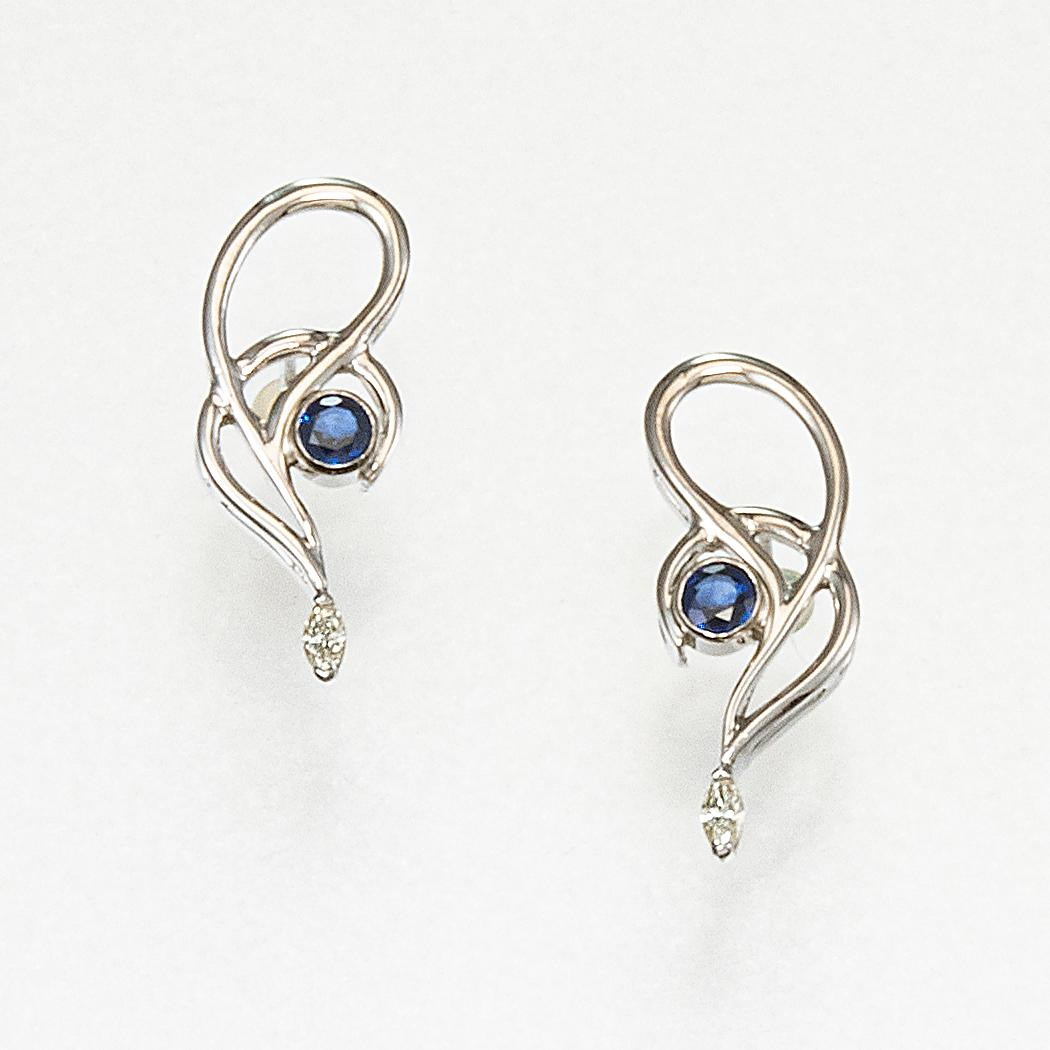 Small Swirl Earrings