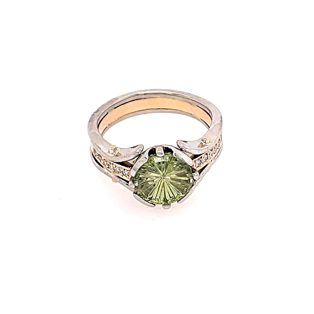 Starbrite, Chartreuse Montana Sapphire Ring