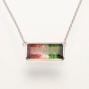 14.5ct Tri-Colored Tourmaline Pendant