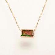 1.83ct Ethiopian Smoked Opal Pendant in 14kt Yellow Gold